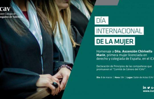 Dia internacional de la mujer. Homenaje a Ascension Chirivella