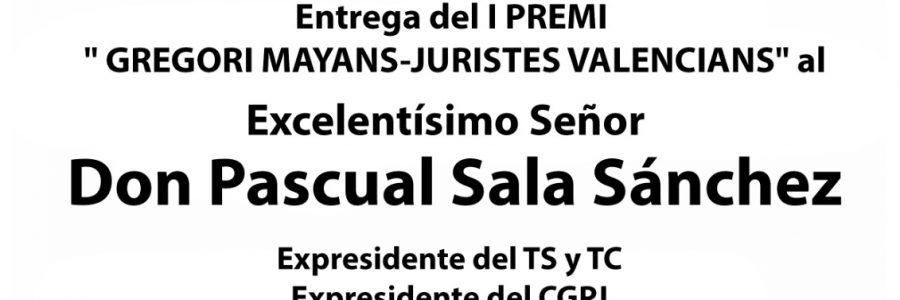 Entrega premio GREGORI MAYANS de Juristes Valencians