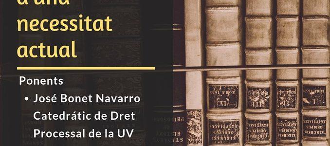 Conferència 26/09 Dret Foral Civil Valencià en Xàtiva